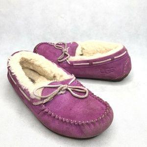 UGG Dakota Purple Slippers Moccasins Comfortable